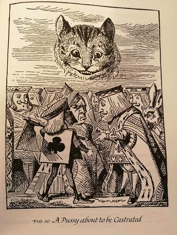 Line art of Alice in Wonderland